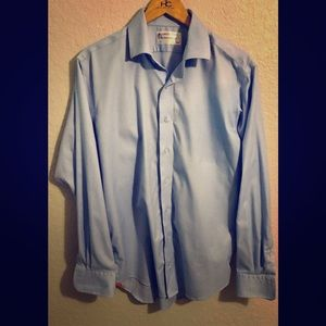 LORENZO UOMO The Perfect Blue Shirt 16 34/35